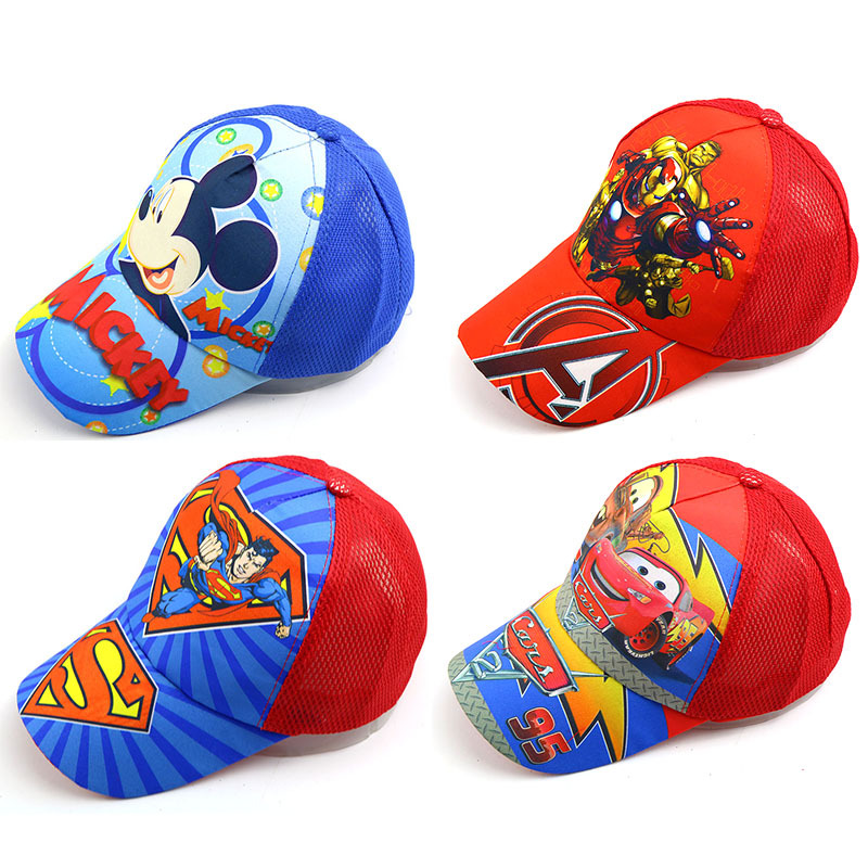 2019 Baby hats Summer new cartoon   baseball     caps   sunscreen breathable sunshade mesh   cap   kids snapback newborn photography props