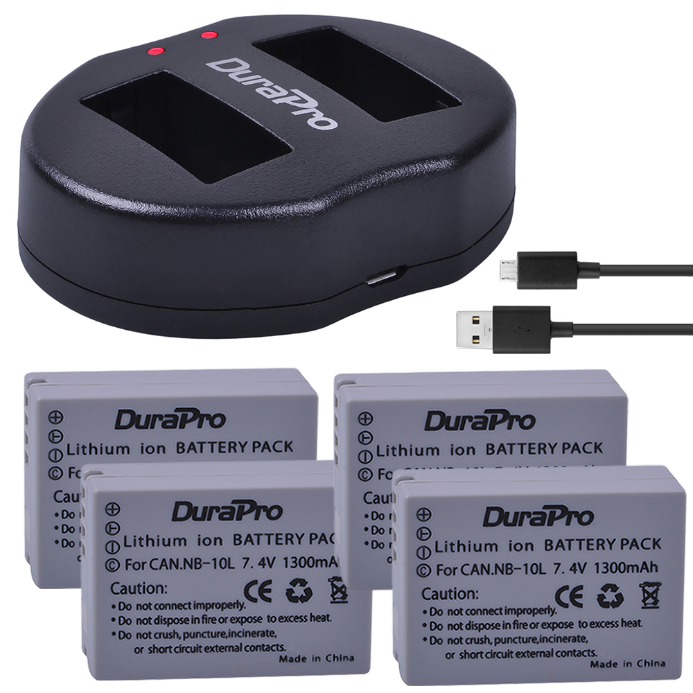 4 Pcs NB-10L NB 10L NB10L Camera Bateria + USB Dual Charger for Canon G1X G15 G16 SX40HS SX50HS SX60HS SX40 SX50 SX60 HS Battery4 Pcs NB-10L NB 10L NB10L Camera Bateria + USB Dual Charger for Canon G1X G15 G16 SX40HS SX50HS SX60HS SX40 SX50 SX60 HS Battery