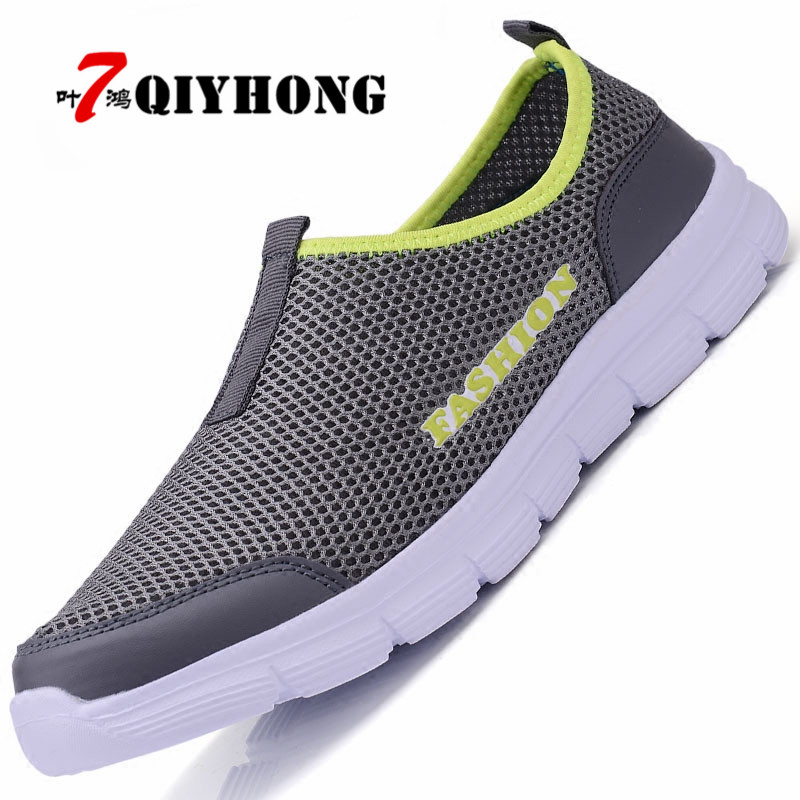 Fashion Summer Shoes Men Casual Air Mesh Shoes Large Sizes 38-46 Lightweight Breathable Slip-On Flats Chaussure Homme summer men casual shoes fashion soft sneakers light breathable flats anti slip comfortable chaussure homme