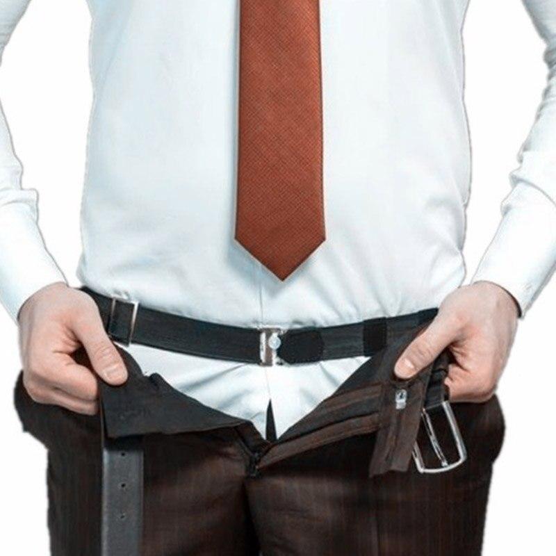 Feitong Adjustable Near Shirt Belt Shirt Unisex  Crease-Resistance Tuck It Belt
