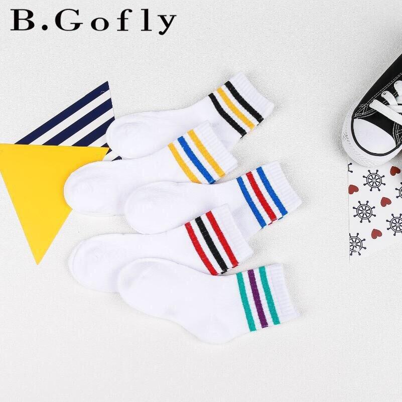 2018 3-12Y Cotton Carton White Skateboard Girls Kids Socks Children Ankle Short Boy Sports Socks