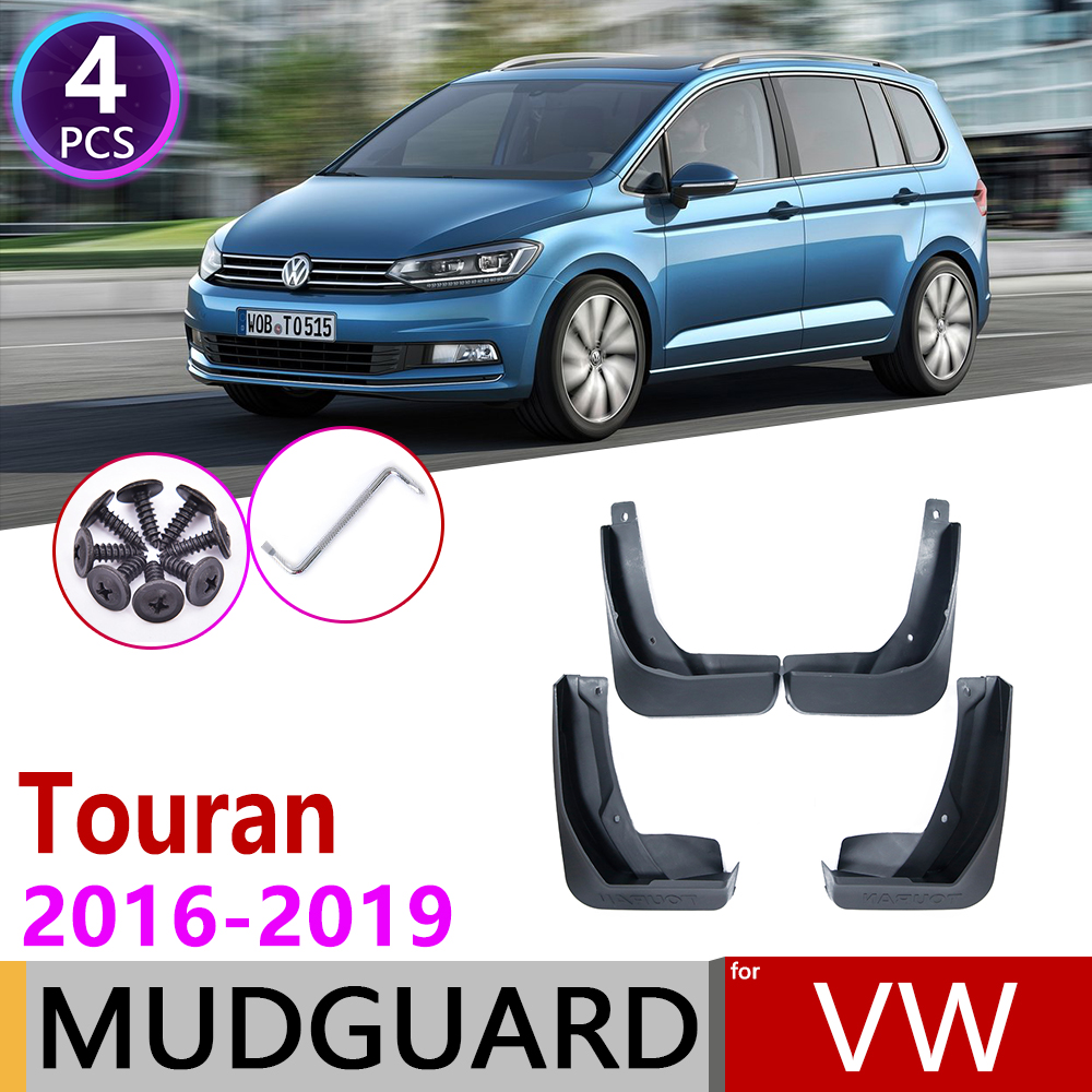 for Volkswagen <font><b>VW</b></font> <font><b>Touran</b></font> 2016 2017 2018 2019 MK2 Mudflap Fender Mudguard Mud Flaps Guard Splash Flap Mudguards Car Accessories image