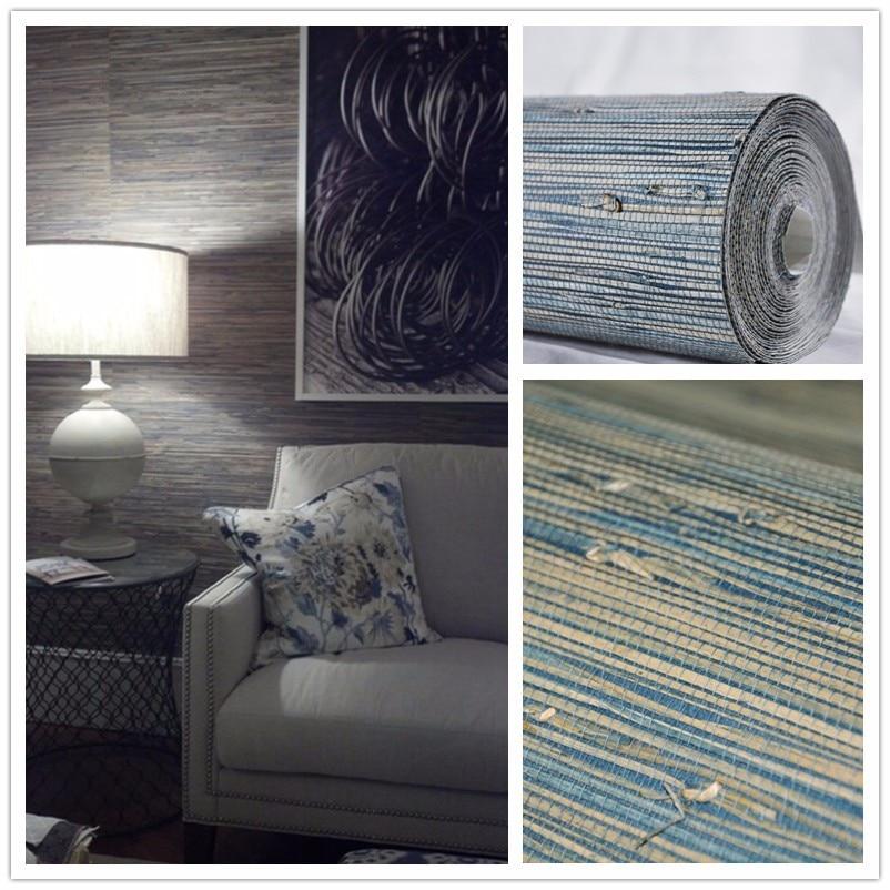 Natural Texture Blue Sea Grass Wallpaper Living Room Nature  Textures Hotel Decoration