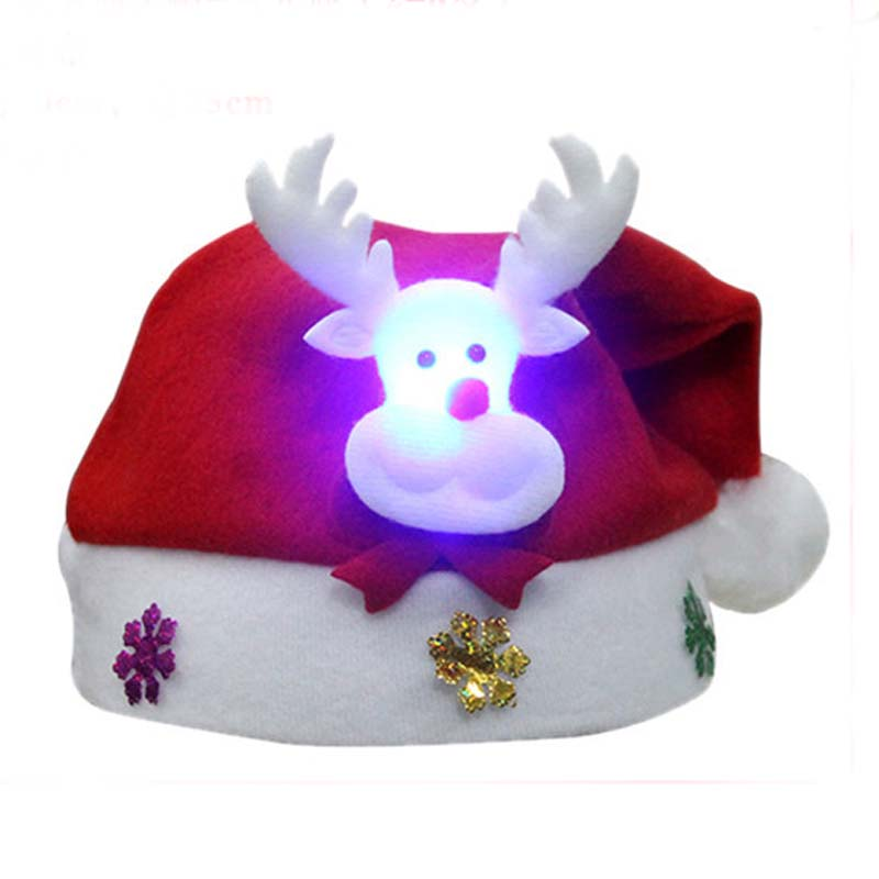 Print Animal Christmas Day Hat Beanies For Kid Girls Boys Festival Santa Claus Winter Warm Ear Cap Skullies inflatable cartoon customized advertising giant christmas inflatable santa claus for christmas outdoor decoration
