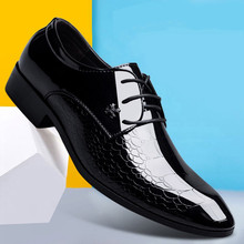Designer Luxury Brand Oxfords Shoes For Men Dress Shoes Patent Leather Croco Office Dress Shoes Zapatos Hombre sapato masculino