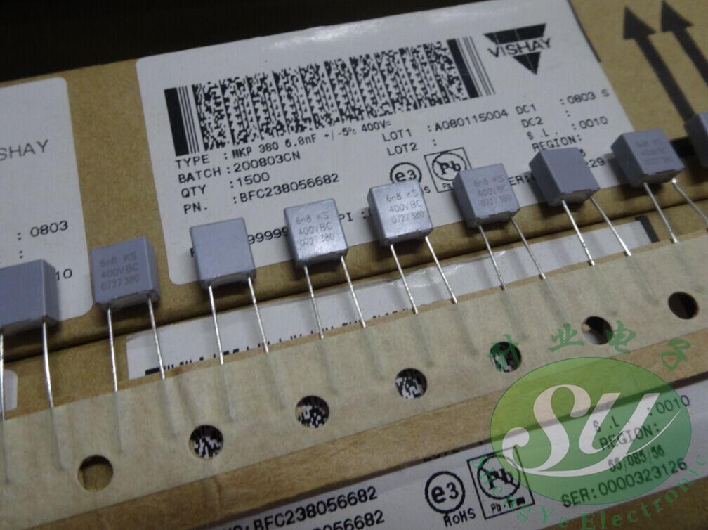 2019 Hot Sale 20PCS/50PCS VISHAY MKP380 Material 0.0068uf/400v 6.8nf 6800pf 6n8 682 Brand New 5MM Free Shipping