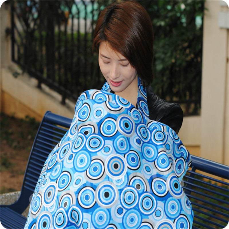 3 Color Cotton Breastfeeding Cover Nursing Covers Shawl Breast Feeding Covers Flower Printed Nursing Covers for Feeding Baby