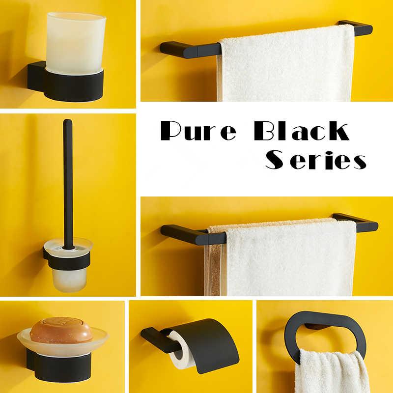 Wieszak na ręczniki miedzi akcesoria łazienkowe Okrągły wieszak na ręcznik wc uchwyt na papier uchwyt na kubek mydło ścierka do naczyń Bar wieszak ścienny czarny sanitarne Suite