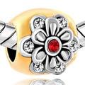 Nuevo para la fabricación de joyas. flor granos del encanto de cristal azul. nuevo Año regalo adecuado para Pandora pulsera