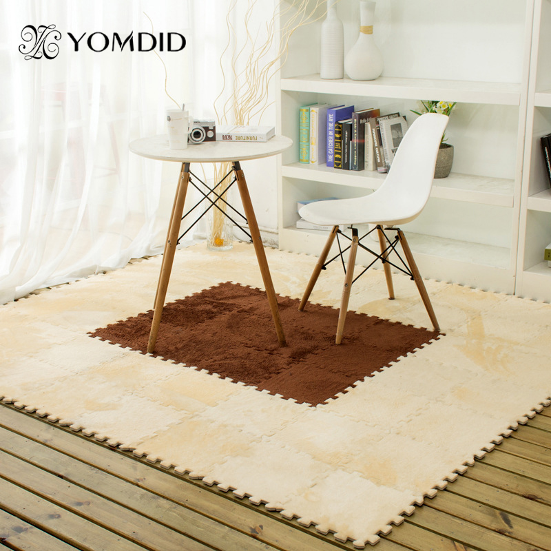 9pcs/Set Floor Puzzle Mat EVA Foam Carpet Kitchen Carpet Dining Room Child Playing Space DIY Carpet 30cm