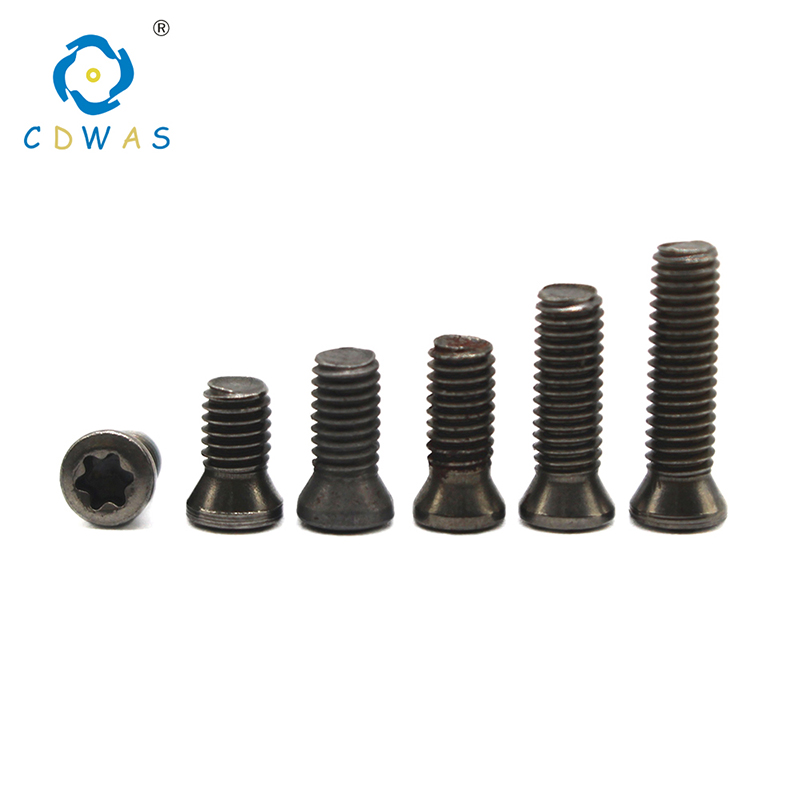 50pcs M2.5x6mm Alloy Steel Torx Screws ForReplaces Carbide Insert Lathe Tool