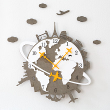 Silent Modern High Grade Wood Large Wall Clock Home Decoration