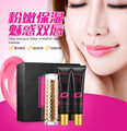 BIOAQUA Brand Long lasting Lipstick Makeup Set Sexy cosmetics Batom Lip Exfoliating Gel Moisturizing Lip Mask Beauty Make-up Set