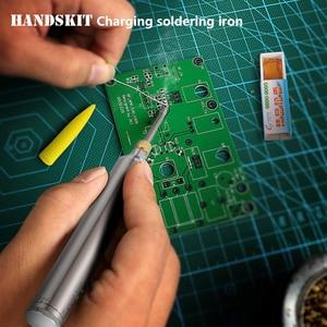 Image 5 - Handskit 5 v 8 w 전기 충전식 납땜 인두 배터리 가정용 미니 다기능 정장 휴대용 무선 용접 펜