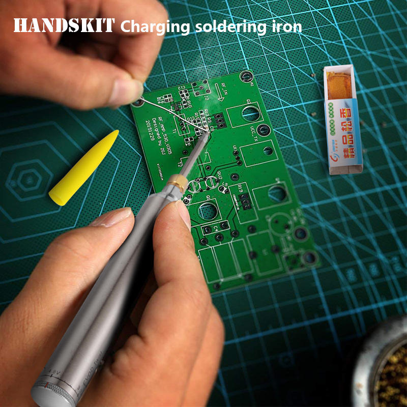 Image 5 - Handskit 5V 8W Electric rechargeable  soldering iron battery household mini multi function suit portable  wireless welding pen-in Electric Soldering Irons from Tools