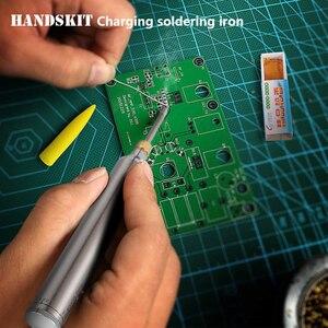 Image 5 - Handskit 5V 8W elektrikli şarj edilebilir havya pil ev mini çok fonksiyonlu takım taşınabilir kablosuz kaynak kalem