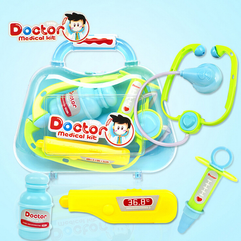 Kids Baby Doctor Medical Game Play Carry Set Case Education Role Play Toy Simulation Medical Toolbox Toy Kit Gift A1