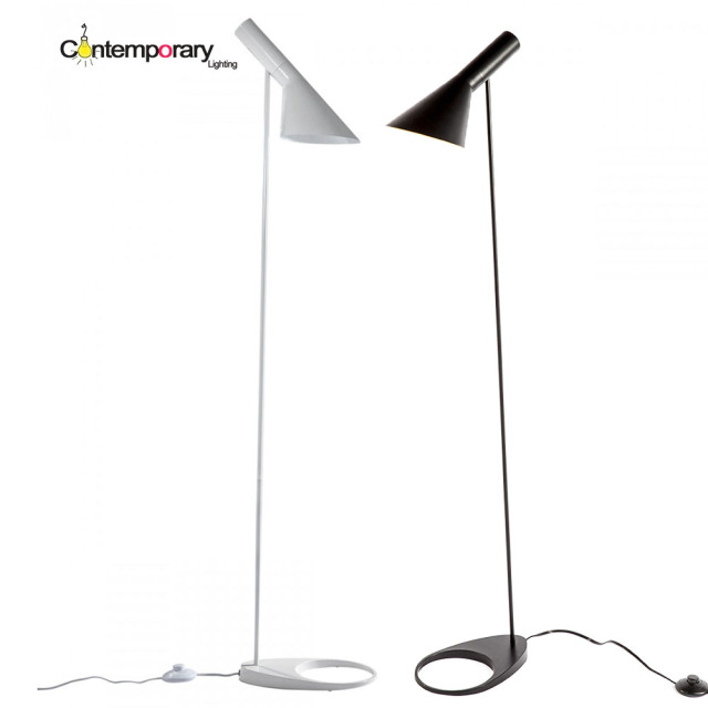 aj floor lamp contemporary design e27 designed funnel shade aj floor lamp black white aluminum stand light for living