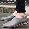 Nuevos 2016 Hombres Zapatos de Marca de Fábrica Superior de Los Hombres de Cuero de Oxfords Del Vestido zapatos Primavera Otoño Mens Pisos Mocasines Moda Casual Masculina Hombre zapatos