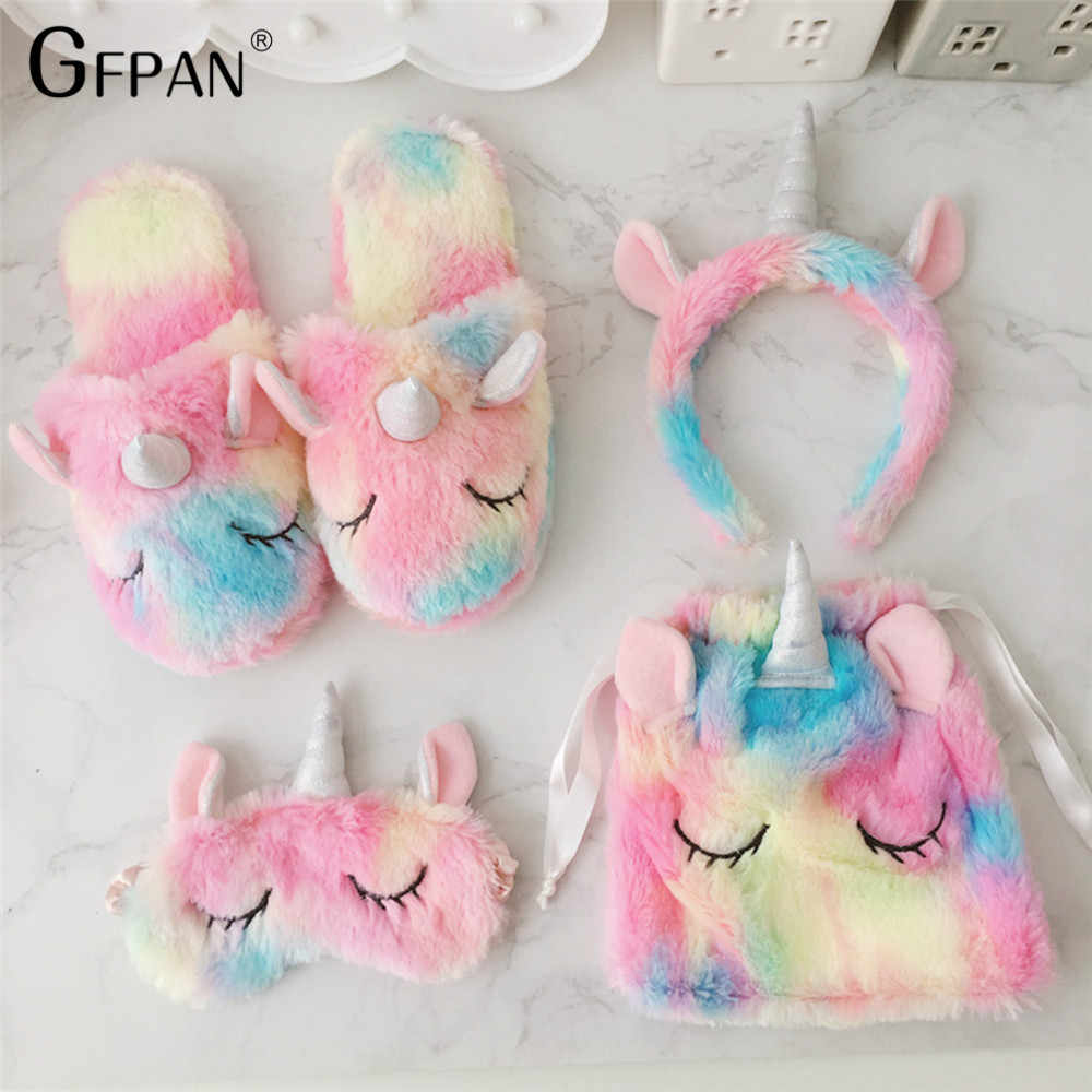 1pc Super Quality Sweet  unicorn eyes mask headband Kawaii Animal Plush Cartoon Christmas Gift Stuffed Unicorn Toys for Children