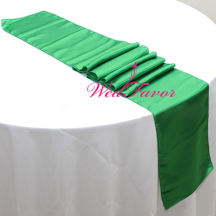 WedFavor 30pcs High Quality Wedding Party Decoration Satin Table Runners For Banquet Hotel Event Supplies