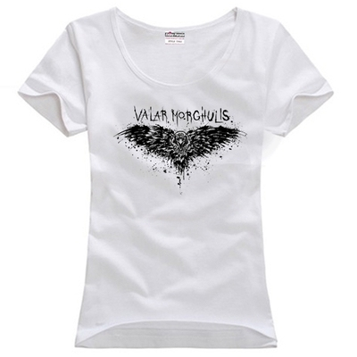 Game of Thrones The Night is Dark Casual O-neck Cotton Women's T-shirt