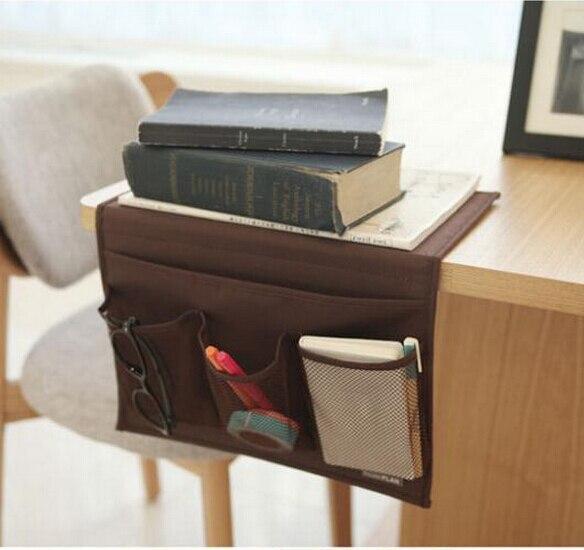bedside pocket sofa storage bag bed organizer hanging phone holder bag desk book magazine storage pouch bed desk set