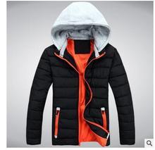 2017 зима новый мужской с капюшоном молодые студенты Корейской версии хлопок куртка Тонкий мужская чистый цвет досуг хлопок мужские winte