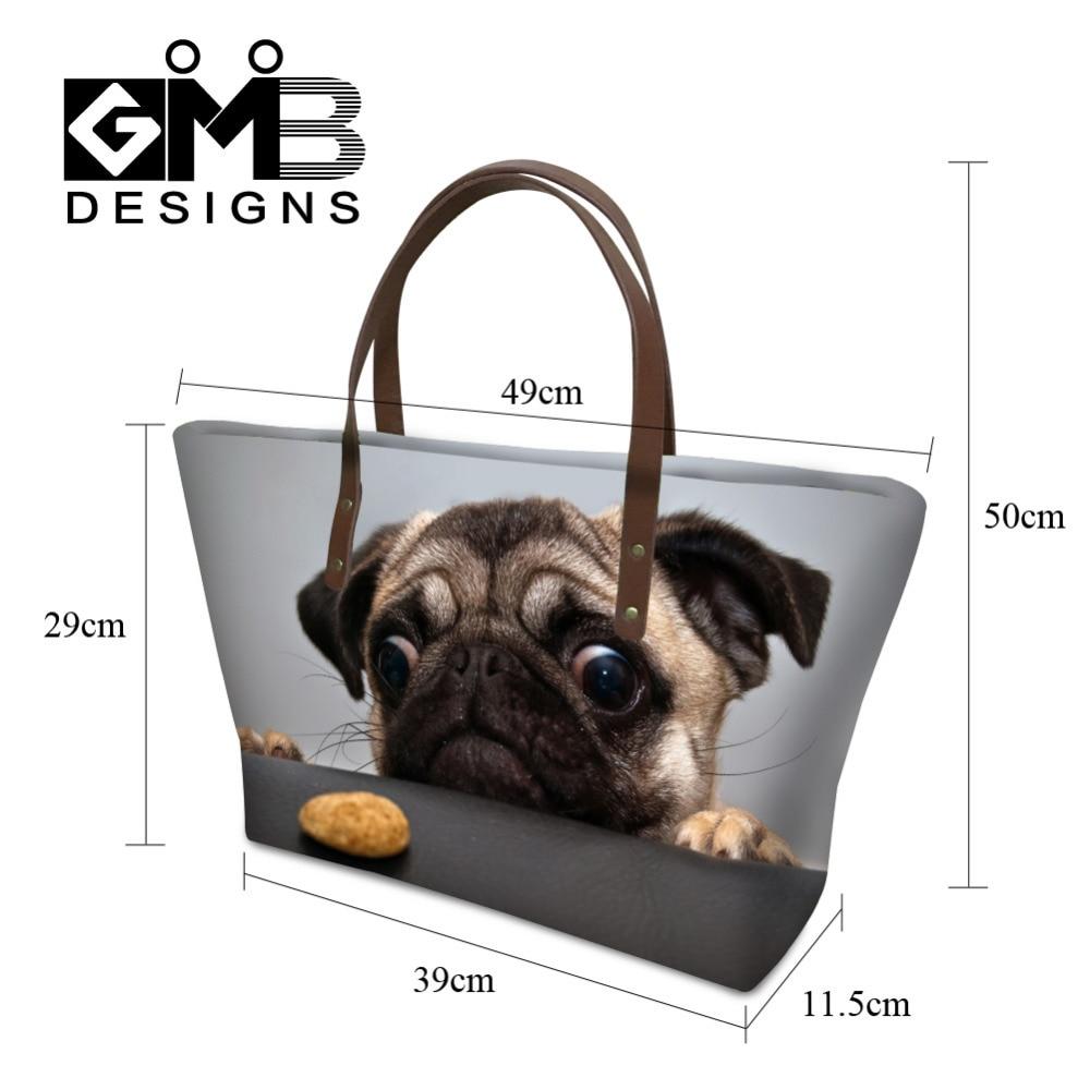 cfb6da23b4a Fashion Animal 3D Print Women Handbags Cute Cat Dog Shoulder Bag Middle Tote  Bag Beach Bag For Lady High Quality Bolsa Feminina-in Shoulder Bags from ...