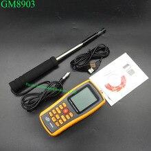 GM8903 Numérique Anémomètre Vent Compteur de Vitesse Anémomètre Vitesse Du Vent GaugeTemperature Mesure USB Interface Avec Le sac De Poche