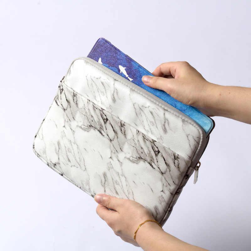 غطاء من الرخام الأبيض لباد 9.7 برو 11 2018 حافظة مقاومة للصدمات جيب للجهاز اللوحي حقيبة للآي باد Air 2/1 Pro 10.5 Mini 4 Capa Para + Stylus