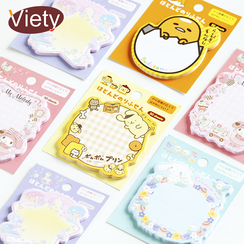Cartoon Melody Gudetama Memo Pad Sticky Notes Paper Sticker Notepad Kawaii Stationery Pepalaria Office School Supplies