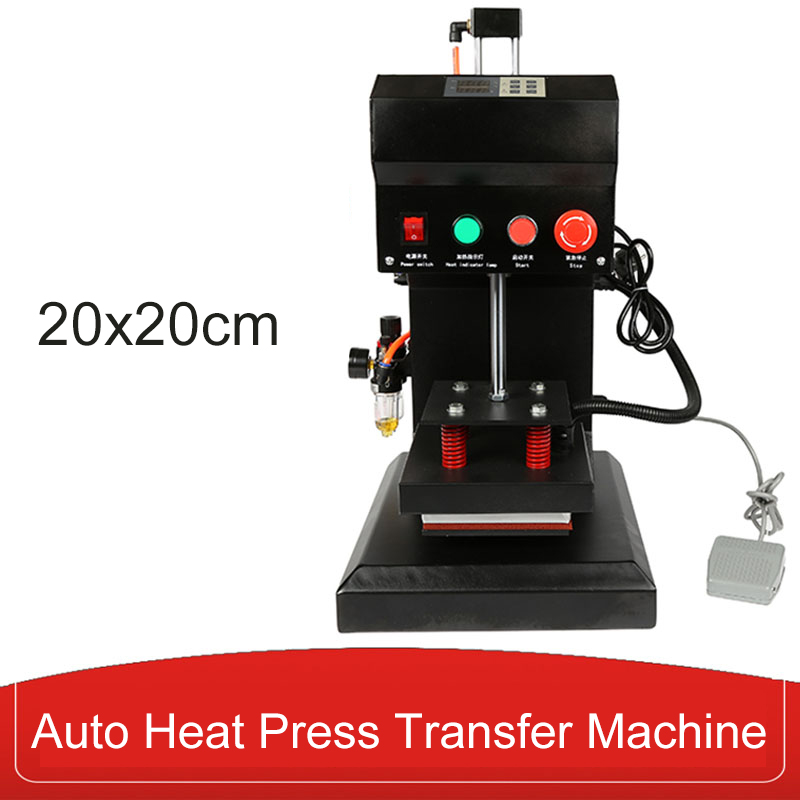 Free Shipping20x20cm Pneumatic Auto Heat Press Transfer Machine for Sticker Label 110V/220V 800WFree Shipping20x20cm Pneumatic Auto Heat Press Transfer Machine for Sticker Label 110V/220V 800W