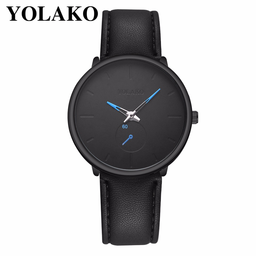 Yueshang YOLAKO Brand Men Ultra Thin Business Watch Luxury Leather Male Clock Quartz Wrist Watch Relogio Masculino Hot Selling