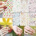 De alta Calidad de la Nueva Llegada Maple Leaf Flower Butterfly Nail Art Decal Stickers Tips Manicura Decoración