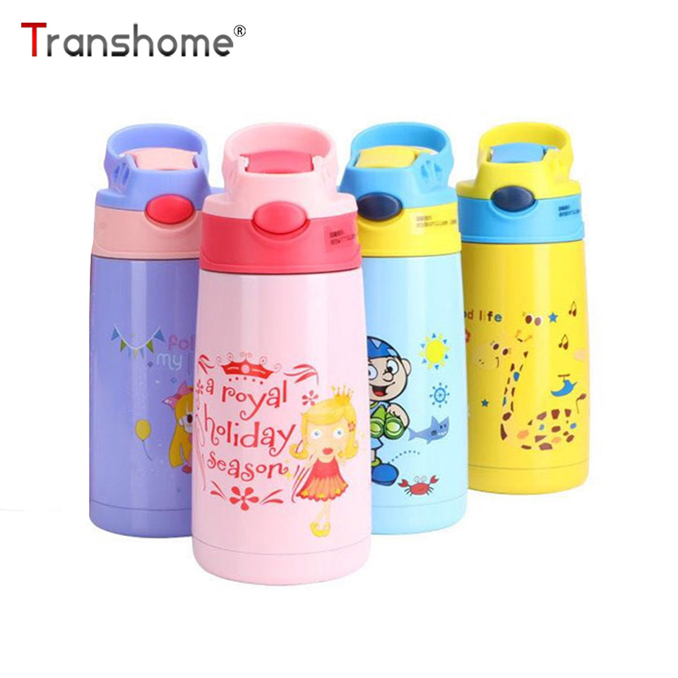 Transhome Thermos-Bottle Straw Stainless-Steel Vacuum Insulated Kids Flasks