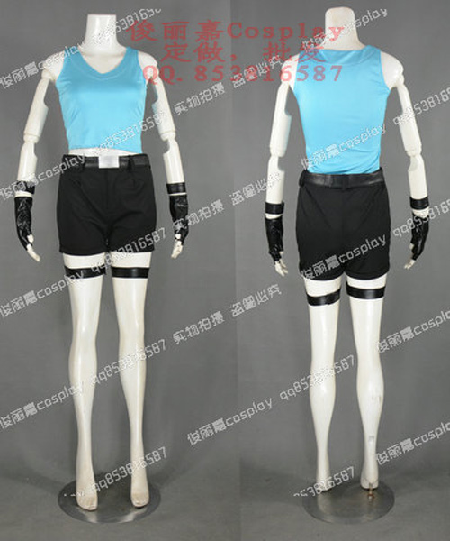 Tomb Raider Video Game Lara Croft Outfit Cosplay Costume J001