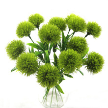 1 шт. Одуванчик цветы для дома декоративные 25 см пластиковые искусственные цветы для дома вечеринка Свадьба Зеленый настоящий сенсорный Декор