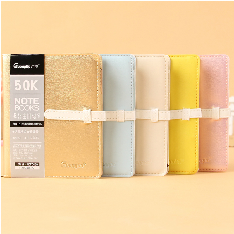 Hot leather school notebook paper Cute personal diary note book 120 sheets Notepad soft copybook Office School Supplies gift a6 diary pink notebook simple fabric 128 sheets coffee gray notepad line paper diary book school office supplies