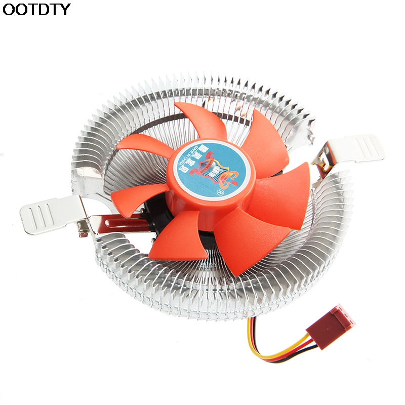 2200rpm CPU Quiet Fan Cooler Cooling Heatsink For Intel LGA775/1155 AMD AM2/3 #L059# new hot 2 heatpipes blue led cpu cooling fan 4pin 120mm cpu cooler fan radiator aluminum heatsink for lga 1155 1156 1150 775 amd