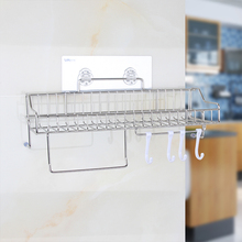Single layer Stainless Steel Kitchen Storage Packs Multi – function Kitchen Racks for home Storage Organization