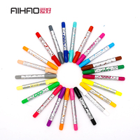 AIHAO Brand Washable 12 18 24 36pcs Drawing Art Marker Children Color Pen High Quality Free