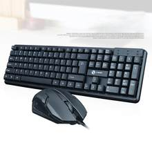 Hobbylane T13 Umum Kabel Keyboard Mouse Set Usb Desktop Laptop Kantor Keyboard Set Keyboard dan Mouse dengan USB Kabel D29(China)