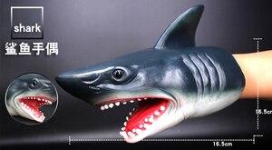 Image 5 - Kinder spiele Shark Dinosaurier Handpuppe Weiche Gummi Tier Kopf Handpuppen Realistische Shark Modell Abbildung Spielzeug Für Kinder Geschenke