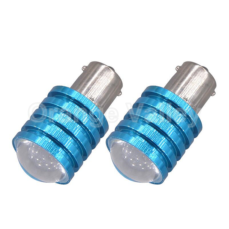 2pcs Super Bright P21W 1156 BA15S 1 High Power LED Car Auto Brake Light Source Tail Reverse Backup Lamp Turn Signal Bulb DC12V