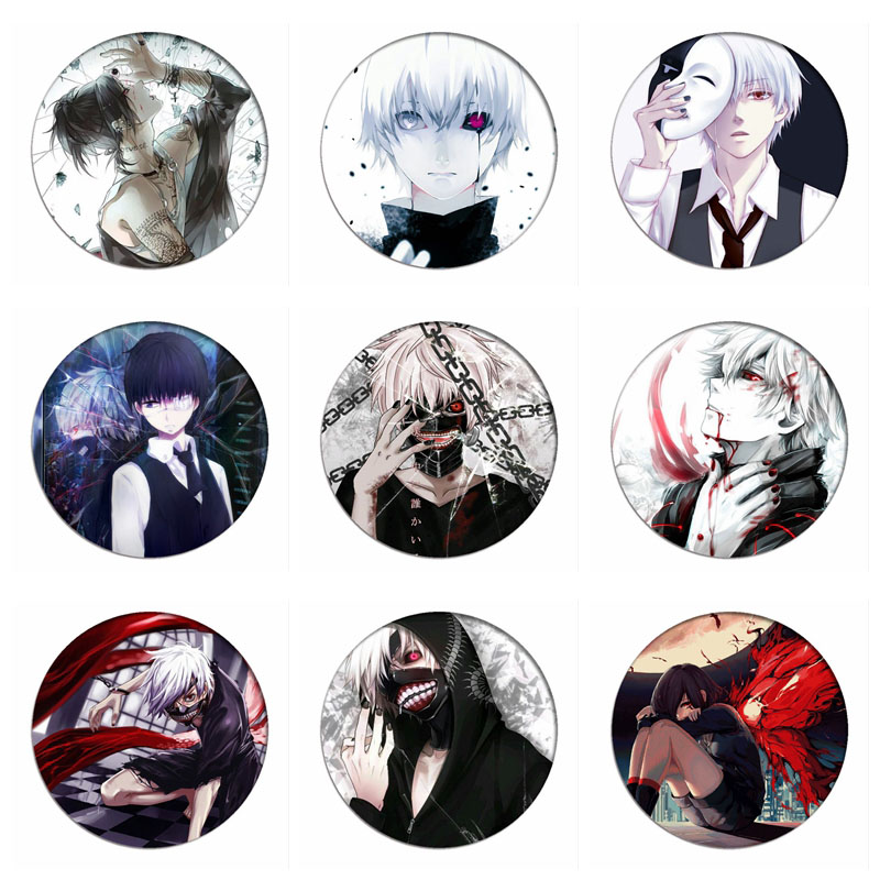 Tokyo Ghoul Kaneki Ken Cosplay Badge Sui Ishida Touka Kirishima Brooch Pins Collection Badges for Backpacks Clothes