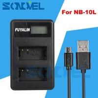 NB 10L NB10L USB LCD Dual Battery Charger For Canon Powershot G15 G16 G3X G1X SX40