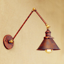Applique Murale Luminaire Loft Retro Vintage Wall Lamp Lights Aplike Adjustable Swing Long Arm Wall Light Edison Sconce Arandela