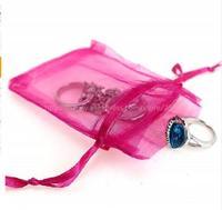 Organza Sheer Gauze Element Jewelry Bags Packing Drawable Organza Bags Wedding Gift Bags Sachet Organza 5Z White
