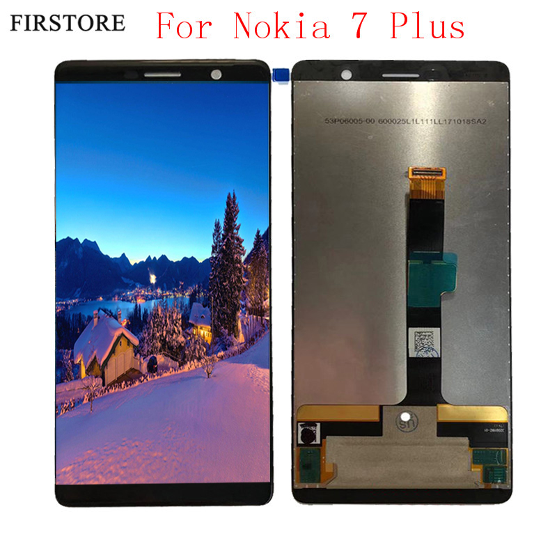 Black LCD Display For Nokia 7 PLUS LCD With Touch Digitizer Assembly Free Shipping